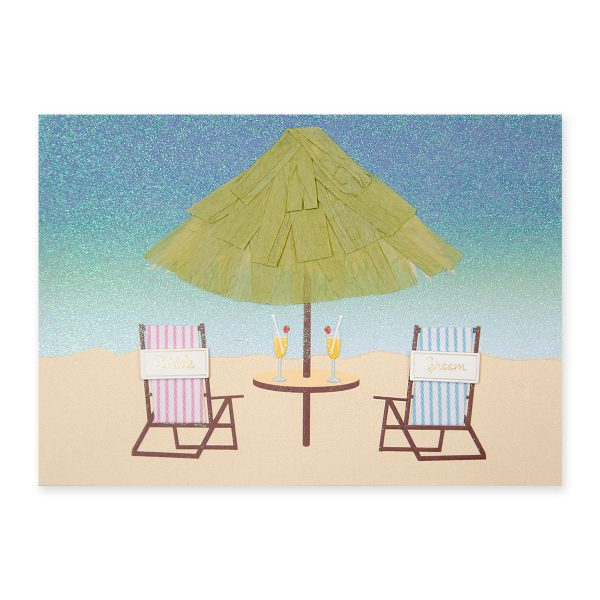 BRIDE AND GROOM BEACH CHAIRS