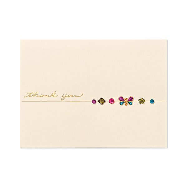 BUTTERFLY GEMS WITH THANK YOU