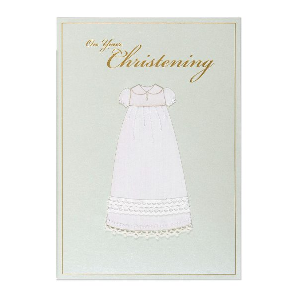 ON YOUR CHRISTENING RELIGIOUS CARD