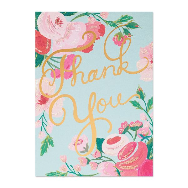 THANK YOU WITH FLORAL CLUSTER